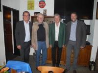 Ehrungen beim TSB: V.li. Peter Jursch, Walter Lenz, Heinz Hennig, Dieter Popp. Foto: str