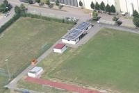 Foto (hs): Vereinsheim beim Sportplatz