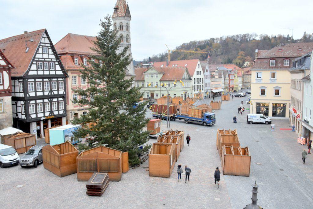Schwäbisch Gmünd Weihnachtsmarkt.Die Budenstadt Für Den Gmünder Weihnachtsmarkt Entsteht