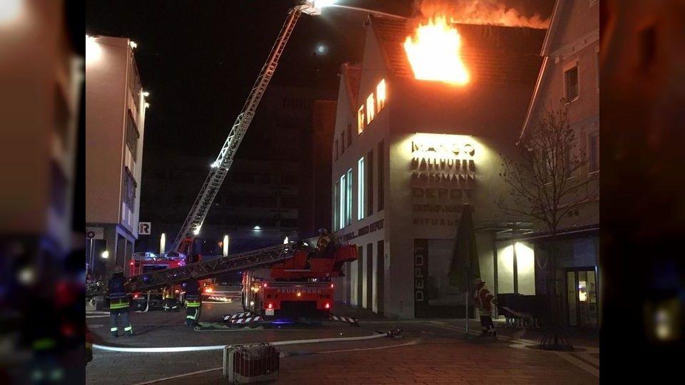 Großbrand in der Aalener Innenstadt
