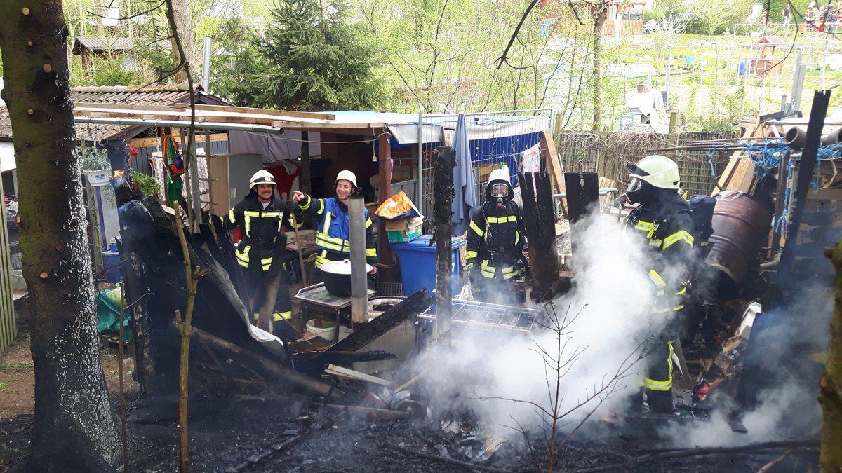 Hüttenbrand: Wenig Schaden