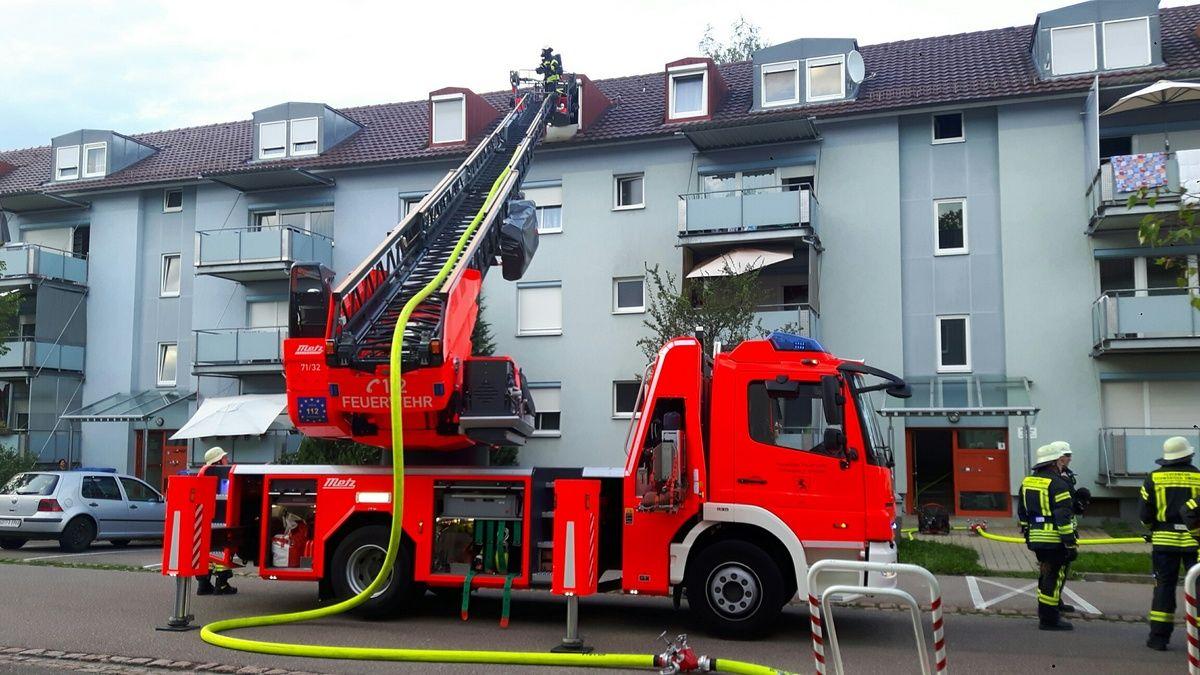 Keine Verletzten bei Wohnungsbrand in Bettringen