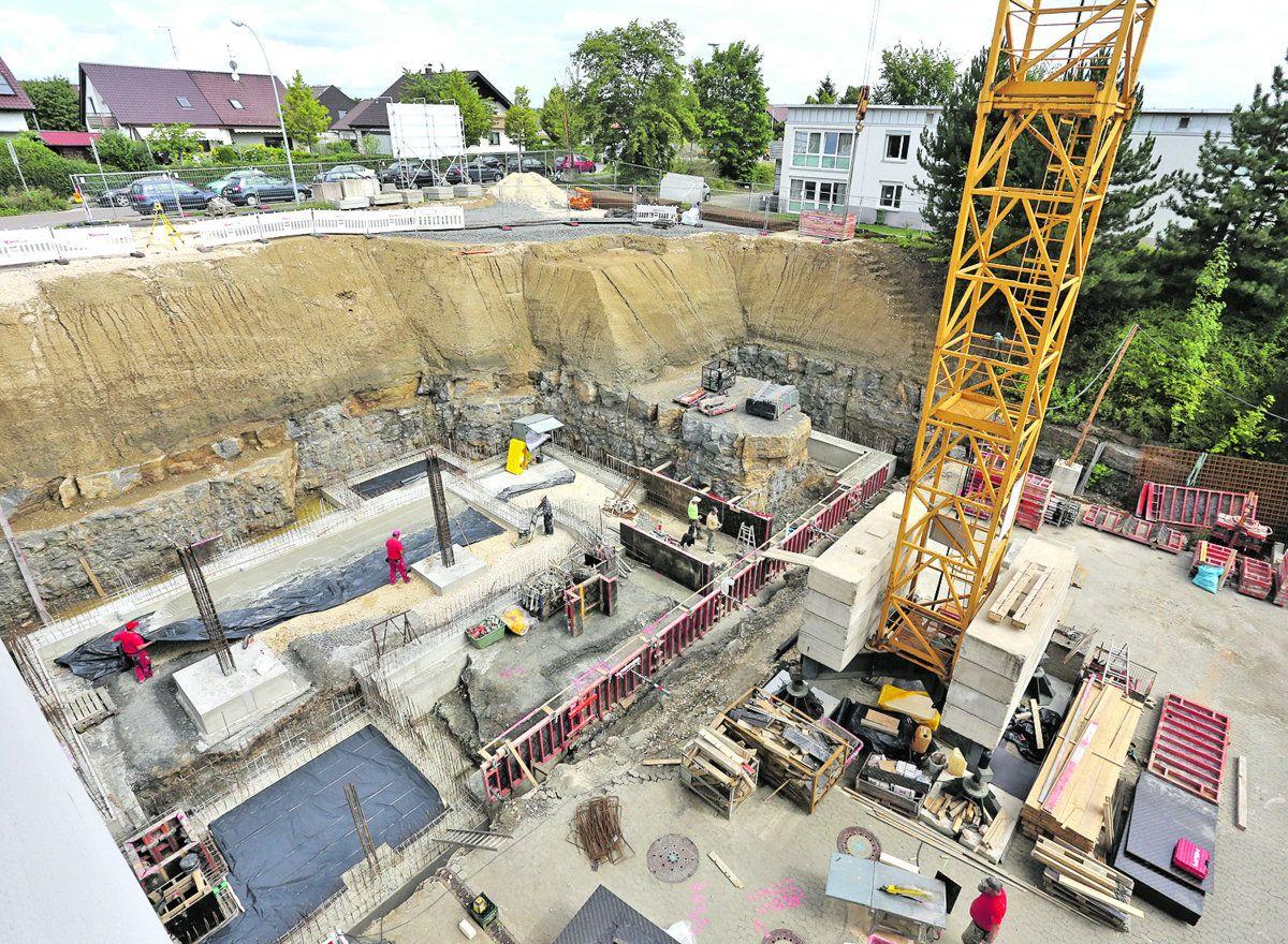 Große Grube: Baufortgang am Stauferklinikum