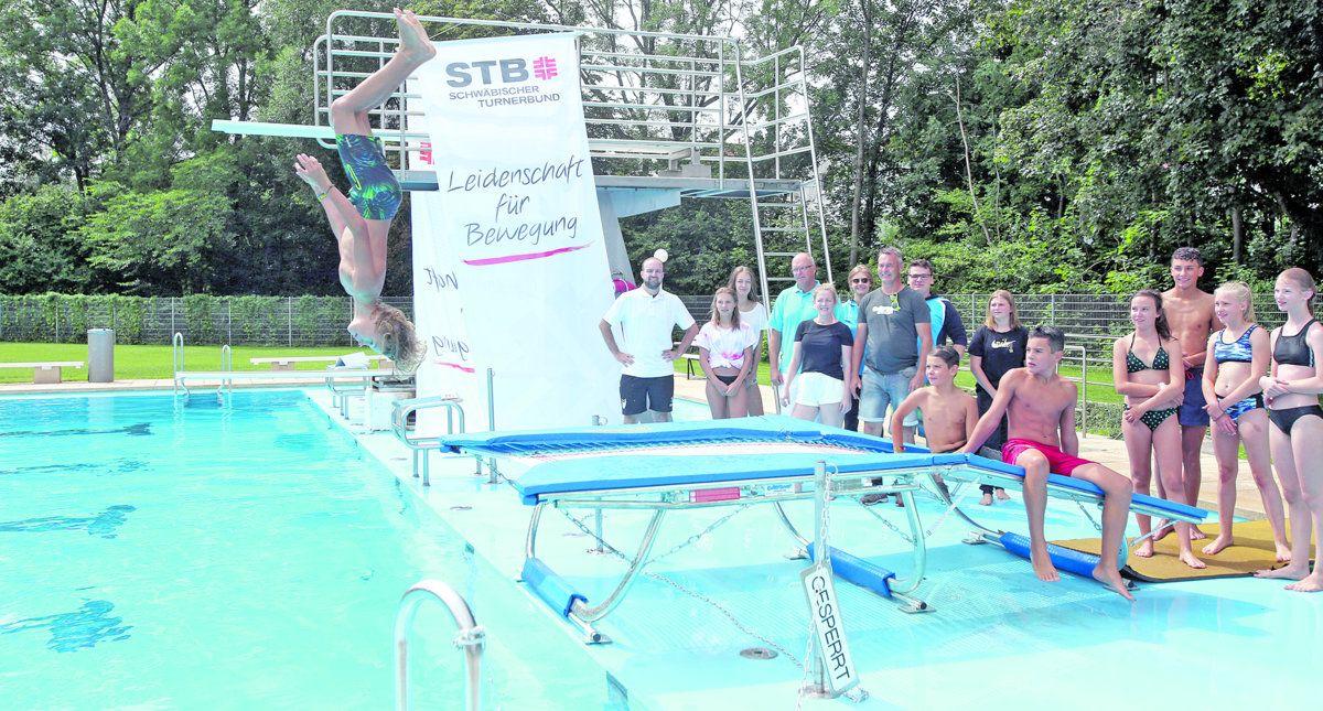 #freibadjump in Heubach bringt den Kindern den Turnsport näher