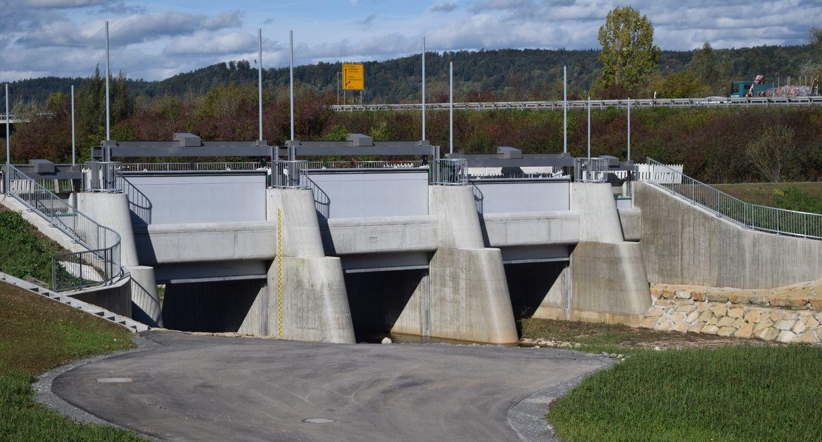 Hochwasserschutz im Remstal: Viertes Rückhaltebecken kurz vor der Fertigstellung