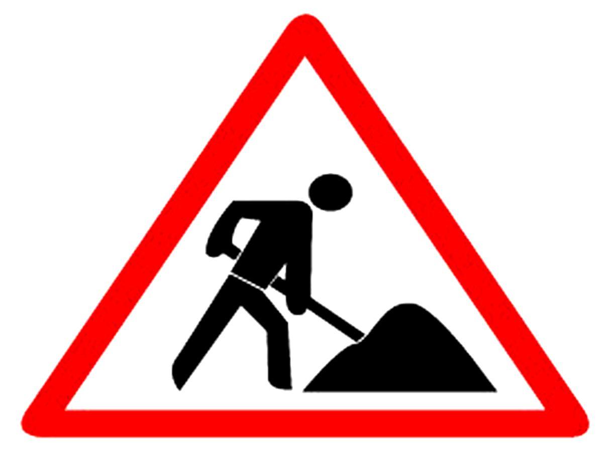 Straßenbauarbeiten im Osten