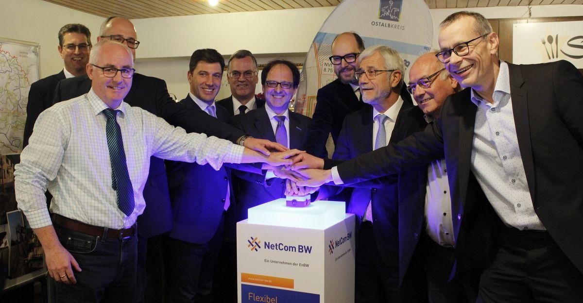 Schnelles Internet im Schwäbischen Wald - Backbone-Trasse Frickenhofer Höhe in Betrieb